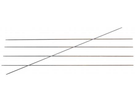 Knitpro Karbonz Strømpepinde Kulfiber 20cm 1,00mm / Us00000