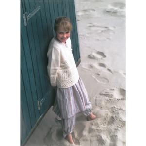 Mayflower Børne Tunika med hulmønster - Tunika Strikkeopskrift str. 2 år - 12/14 år