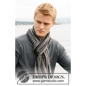 Caspian by DROPS Design - Halstørklæde Strikkeopskrift 150x22 cm