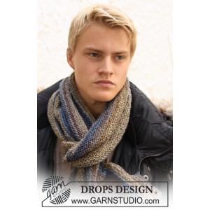 Adam by DROPS Design - Halstørklæde Strikkeopskrift 150x22 cm