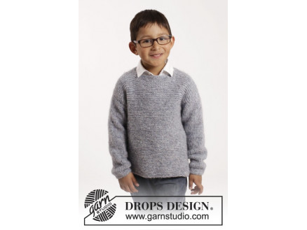 Image of   Modest Michael by DROPS Design - Bluse Strikkeopskrift str. 12/18 mdr
