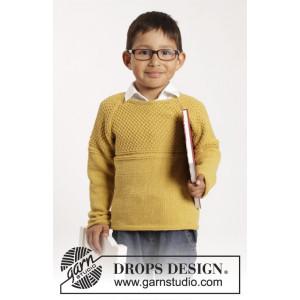 Clever Clark by DROPS Design - Bluse Strikkeopskrift str. 12/18 mdr - 9/10 år