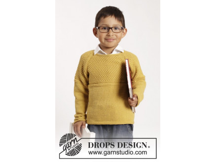 Image of   Clever Clark by DROPS Design - Bluse Strikkeopskrift str. 12/18 mdr -