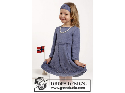 Image of   Wendy Darling by DROPS Design - Kjole og Hårbånd Strikkeopskrift str.