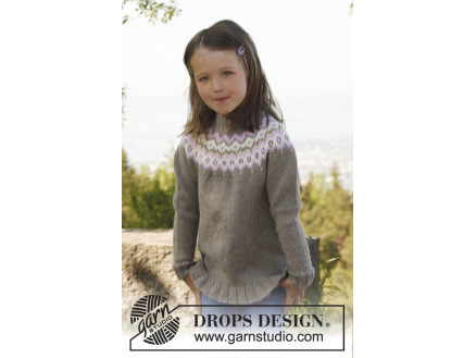 Image of   Silje jumper by DROPS Design - Bluse Strikkeopskrift str. 3/4 - 11/12