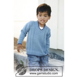 Julien by DROPS Design - Bluse Strikkeopskrift str. 3/4 - 11/12 år