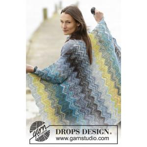 Dancing On The Dock by DROPS Design - Tæppe Strikkeopskrift 114x90 cm