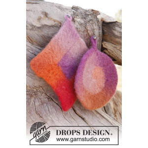 Betty by DROPS Design - Filtede Grydelapper Strikkeopskrift 20x20 og 18 cm