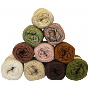 Mayflower Cotton 8/4 Garnpakke 10 farver Naturlige nuancer - 10 stk