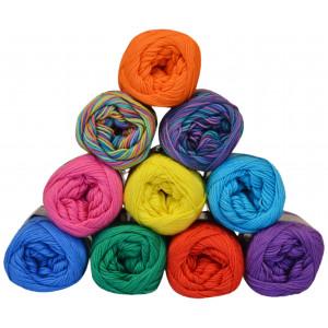 Mayflower Cotton 8/4 Garnpakke 10 farver Friske nuancer - 10 stk