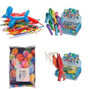 Ensfarvede balloner