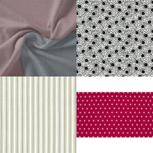 Mønstret Bomuldsstof