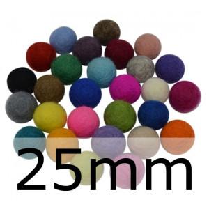 Filtkugler 25 mm