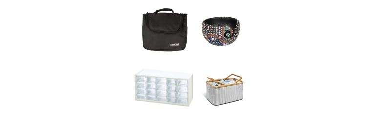 Opbevaring Garntasker, strikketasker, æsker, bokse m.v.