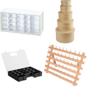 Opbevaring - Tasker, garnskåle, plastikkasser og syæsker m.m.