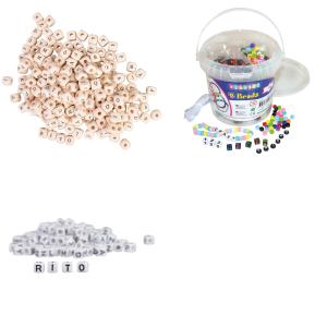 Perler med bogstaver