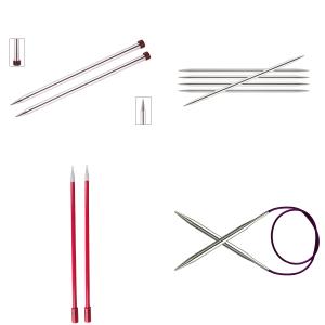 Strikkepinde inddelt efter mm størrelser